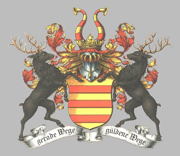 The initial coat of arms, now the one of the Goltern line.